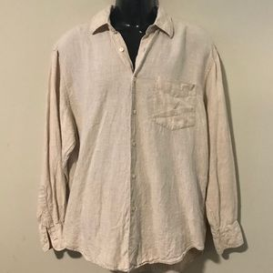 Nautica Linen Button Down Shirt